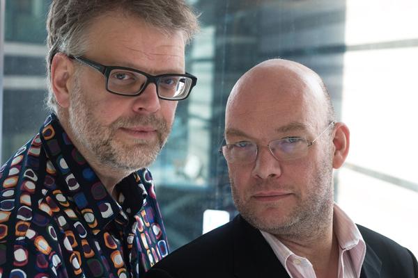 Hans Rosenfeldt (links) und Michael Hjorth