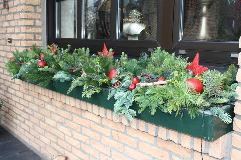 Gartentipp Weihnachtliche Balkonkasten