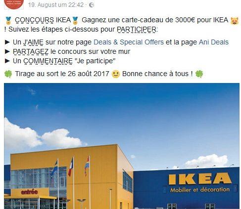 Ikea Gewinnspiel Fake