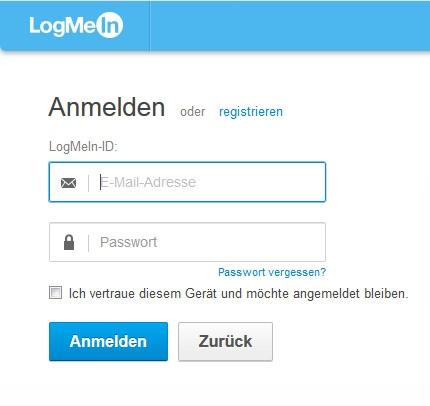 Geschäft mit Passwörtern