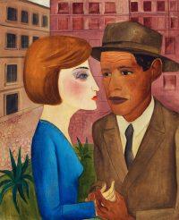 Lasar Segall, Encontro, ca. 1924, Öl auf Leinwand, 66 × 54 cm, Acervo Museu Segall – IBRAM/MinC