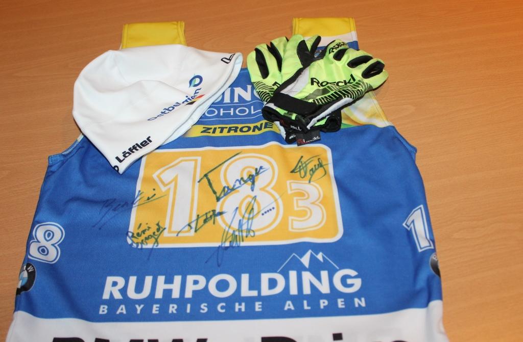 Sportausrüstung von Biathlet Thierry Langer (Foto: BRF)