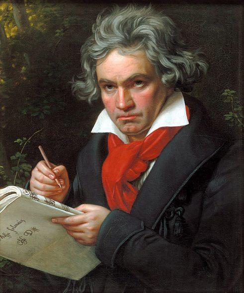 Ludwig van Beethoven, idealisierendes Gemälde von Joseph Karl Stieler, ca. 1820