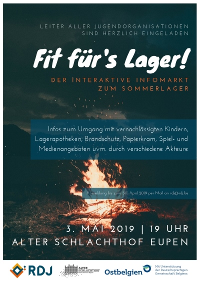 Fit für's Lager: Infomarkt am 3.5.2019
