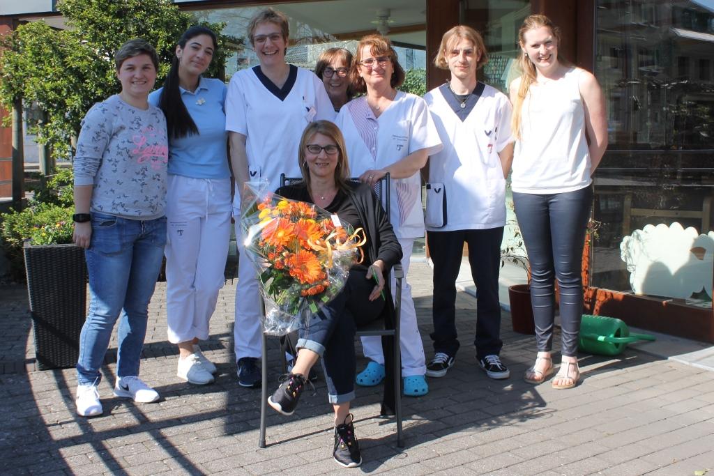 Jacqueline und das Team vom Seniorenzentrum St. Franziskus Eupen (Foto: BRF)