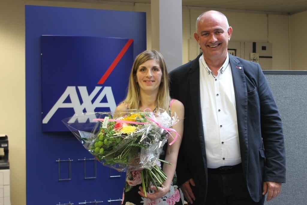 Raumpflegeaktion 2019: Aurélie und AXA-Filialleiter Jean-Henri Thunissen (Foto: BRF)